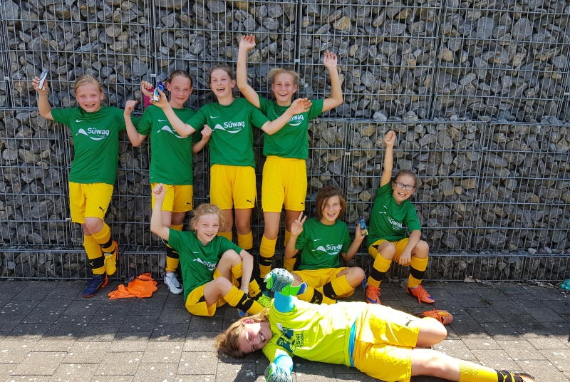 """Die Mädels des """"Team 1"""" haben sich trotz einer überdurchschnittlich jungen Mannschaft über die Sasion toll entwickelt!"""