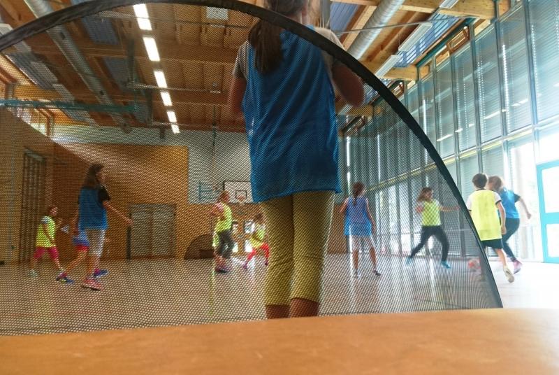 Fußball schnuppern in der Grundschule Spiegelberg angesagt - auch hier hat es uns riesig Spaß gemacht!
