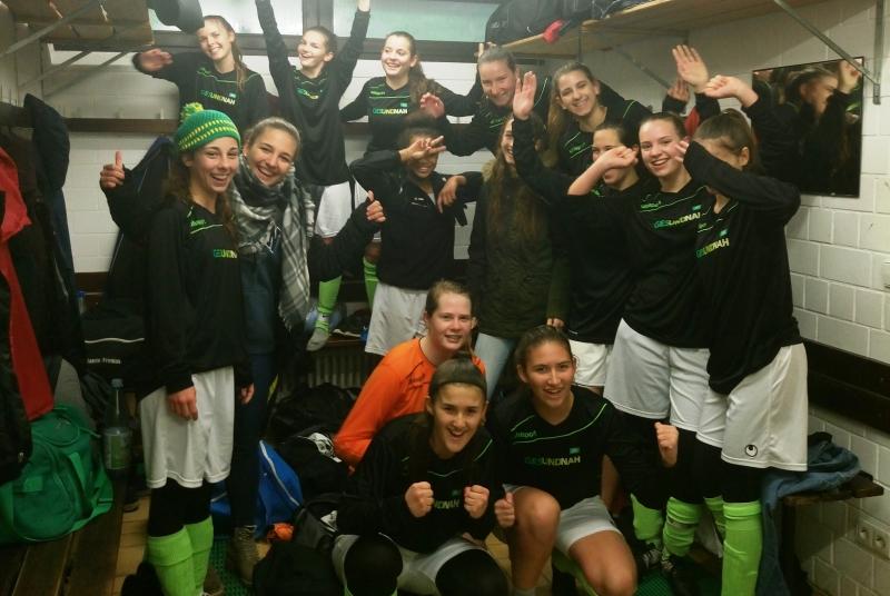 Dürfen sich über den sechsten Sieg in Folge freuen: Unsere B-Mädels