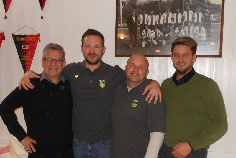 Von links: Alexander Müller, Winfried Hettich, Axel Dietrich, Alexander Stoppel
