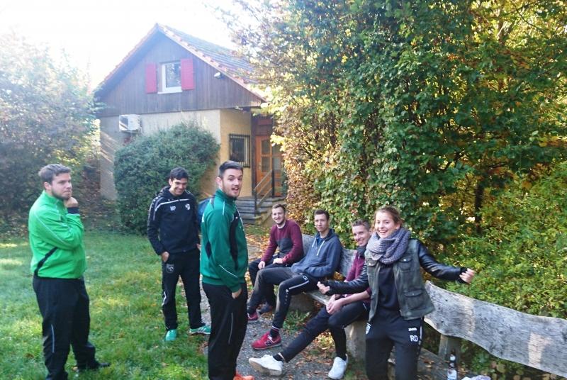 """Nun schon des Öfteren unsere """"Heimat"""" für das Jugendtrainer-Wochenende: Die Burghalden-Hütte in Plüderhausen"""